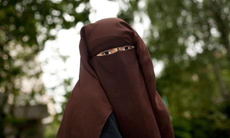 Hind Ahmas wearing the niqab in France