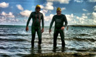 Andrew Hudson, and Ben Gelblum, who are swimming to Bestival