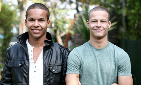 African American Identical Twins Black and white twins
