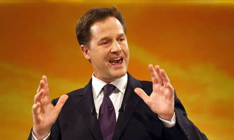 Nick Clegg gives Lib Dem conference speech