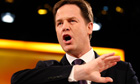 Nick Clegg speaks during the Liberal Democrats conference in Birmingham