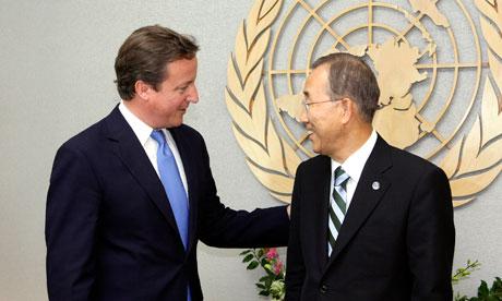 David Cameron Ban Ki-moon