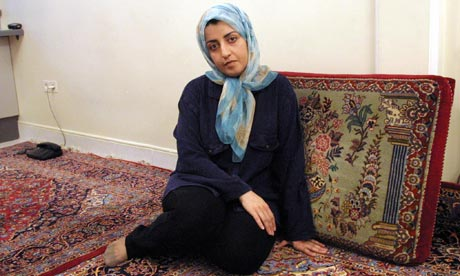 Iranian peace activist Narges Mohammadi at her home in Tehran in 2001