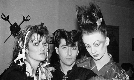 Claire Thom, Philip Sallon and Boy George in 1980