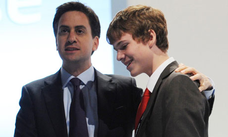 Ed Miliband and Rory Weal