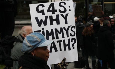demonstrators protest mubenga death