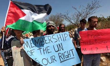 Palestinian activists demand UN membership