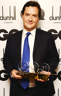 George Osborne with the Politician of The Year award