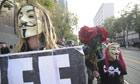 San Francisco V for Vendetta mask