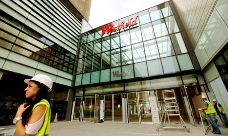 The new Westfield shopping centre in Stratford, east London
