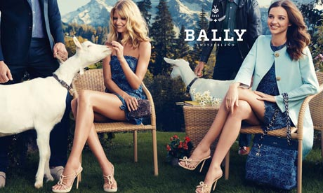 All smiles: a press advert for Bally