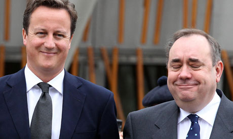 David Cameron and Alex Salmon