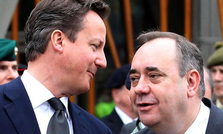 David Cameron and Scottish First Minister Alex Salmond