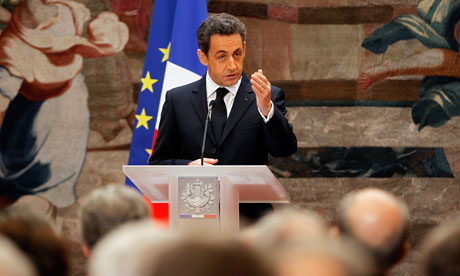 Nicolas Sarkozy's worst election fear realised with loss of AAA rating President was trailing Socialist rival François Hollande. Now his image as the 'Caped Crusader' of global finance is dented