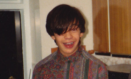 Alexis Petridis as a teenager in the 1980s. Photograph: Guardian