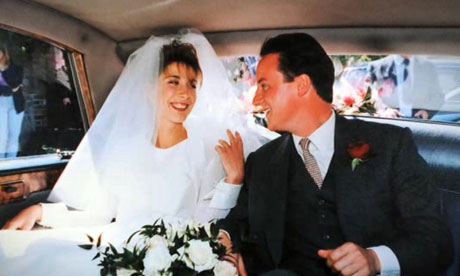 David and Samantha Cameron on their wedding day
