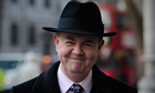 Private Eye editor Ian Hislop arrives at the Leveson inquiry.