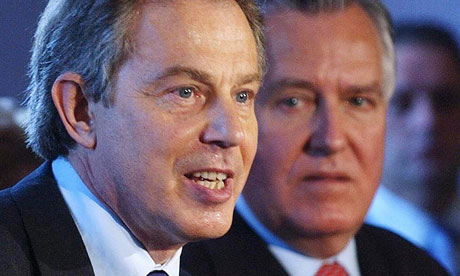 Peter Hain with Tony Blair