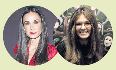 Demi Moore and Gloria Steinem