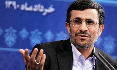 Iranian president, Mahmoud Ahmadinejad