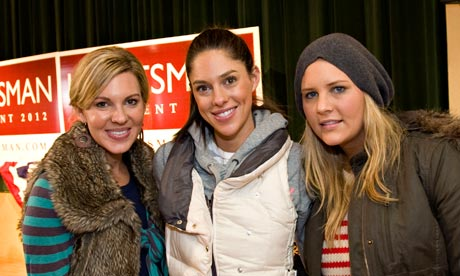 Republican presidential candidate Jon Huntsman's daughters, Mary Anne, Abby and Liddy.
