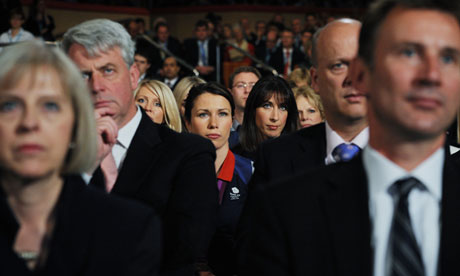 Cabinet members at the Conservative party conference, 2012