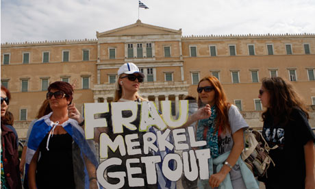 Demonstration against Merkel visit in Athens
