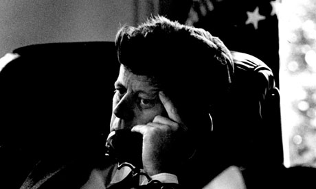 President Kennedy On The Telephone