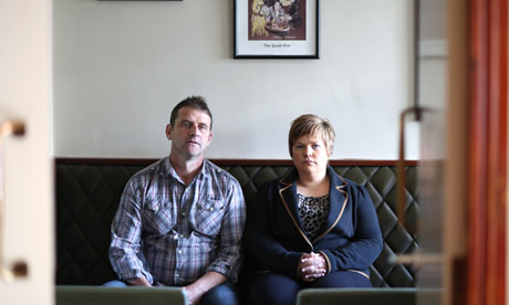 Aidan O'Toole and Emma Rogan in the Heights Bar as it is today