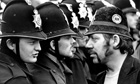 Miner faces police at Orgreave pit