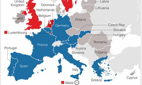 European countries that support a financial transaction tax