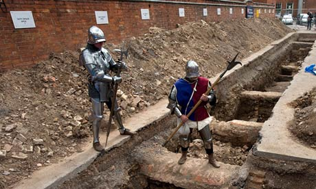 The Leicester car park where a skeleton that archaelogists believe could be Richard III was found.