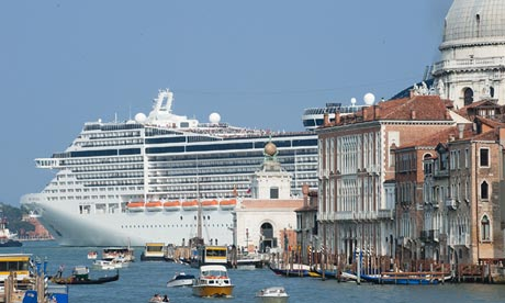 Venice cruise liner row escalates Pro-tourism demonstrators plan rally but locals protest against vessels clogging up canals amid fears of damage and pollution