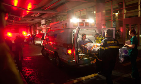 Evacuating New York City hospitals