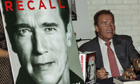 Arnold Schwarzenegger signs copies of his autobiography