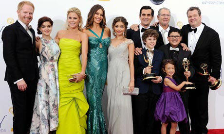 Modern Family cast at 2012 Emmys