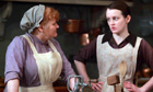 Downton Abbey … Mrs Patmore and the unlucky-in-love Daisy.