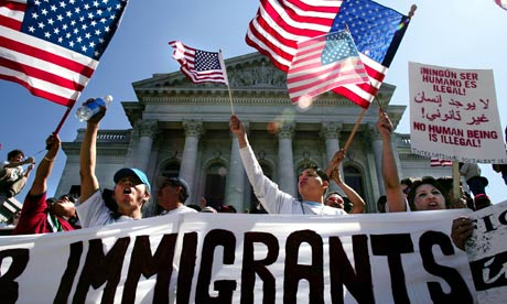 Demonstrators gather in Madison, Wisconsin to demand citizenship for illegal immigrants