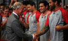 Prince Charles meets New Zealand Warriors rugby team, November 2012