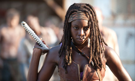 Michonne delivers Spartacus-levels of gore in this episode. Photograph