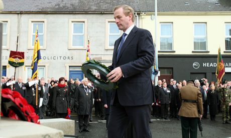 taoiseach Enda Kenny's visit to Enniskillen on Remembrance Sunday