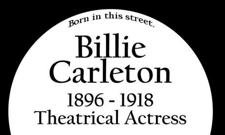 Billie Carleton plaque