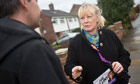 Ukip candidate Jane Collins campaigning in the Rotherham byelection, talking with Robert Miles.