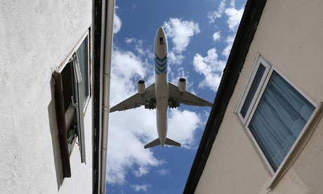 A jet comes into land at Heathrow. The British Chambers of Commerce wants a third runway