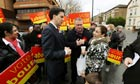 Labour leader Ed Miliband joining Steve Reed's campaign in the Croydon North byelection