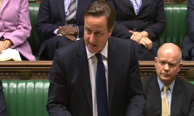 David Cameron makes a statement on the EU budget summit to the House of Commons.