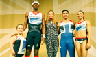 Team GB athletes pose wearing kit designed by British designer Stella McCartney