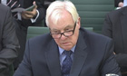 BBC Trust chairman Lord Patten appears before the Commons culture, media and sport committee