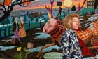 Grayson Perry with The Upper Class at Bay from his tapestry sequence The Vanity of Small Differences