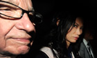News Corporation chairman Rupert Murdoch and his wife Wendi Deng leaving the Leveson Inquiry.